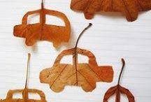 Autumn 秋 / falling leaves. books. halloween. custome