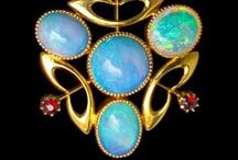 Opals & Moonstones / Earrings, rings, bracelets, necklaces, made out of moonstone and/or #opal Delicate gems in pastel colours.