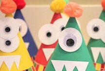 < Little monster party > / Monster invitations, hats, cake, decoration and more ideas.