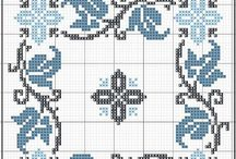 X Stitch - Borders / boarders, frames, corners, edging