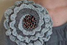 crochet fiori e foglie