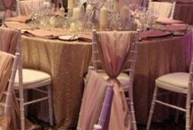 Sequin Linen Hire / Our sequin linen is available for hire in lots of different sizes and colours.