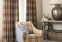 Ollaberry and Roxburgh / Woven in England from 100% Shetland Wool, 'Ollaberry & Roxburgh' is a classic collection of checks, stripes and herringbone weaves in a fabulous selection of colours for curtains, upholstery and loosecovers.