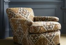 Kilim / Bring some Persian romance into your home with these Kilim-inspired designs. The intricately woven patterns follow a warm colour palette and the fabric is heavy yet soft to the touch.