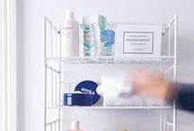Shelves / Shelfes designed by Olof Kolte. they fit in the bathroom, kitchen, children's room and other rooms that require a smart storage solution.The series includes Double shelf, Tripple Shelf,  Middle Shelf, Hatrack and ShoeShelf.   Material: Powder coated metal wire
