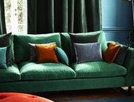 Omega Velvet / A collection of richly coloured Italian velvets for curtains and upholstery with a washable, stain repellent finish. Available in 100 colours, the Omega velvet is a versatile fabric when planning your next upholstery project, a colour to suit every taste and a beautiful soft finish.