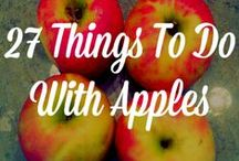 APPLE RECIPES / Apples, Apples, Apples!  Lots of great recipes for a fun fall or anytime of the year!