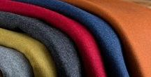 Lana / Soft Italian milled wools offered in 56 contemporary melange shades, perfect for upholstery and curtains.