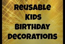 Kids Birthdays / Ideas for celebrating kids birthdays-birthday party themes, DIY decorations, and kids party activities.