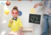 THREE / ruby's rainbow confetti party / images by danielle trovato