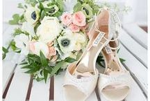 | Wedding Shoes | / Ideas and inspiration for wedding shoes from sexy pumps to simple flats.