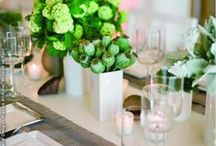 | Green Wedding Ideas | / Ideas and inspiration for adding shades of green such as chartreuse, juniper, olive, emerald, pine and mint to your wedding day.