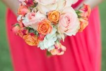 | Coral Wedding Ideas | / Fun ways to incorporate this popular peachy pink color into your wedding day color scheme.