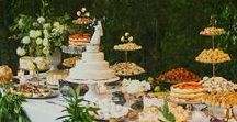 | Wedding Dessert Tables | / Can't decide between a wedding cake, wedding cupcakes, mini desserts, or a candy bar? Have all your wedding sweets displayed on a gorgeous wedding dessert table! Find delectable inspiration here.