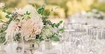 | Wedding Centerpieces | / Wedding table centerpieces can be flower arrangements, but you can get creative with vintage books, fruits, vegetables, candles, lamps...the sky's the limit!