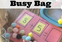 Busy Bag / Activity Bag Ideas / Activities that can be used as busy bags for toddlers and Preschoolers.
