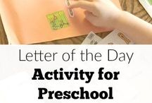 Learning Letters / Activities, games and crafts for kids that teach the letters of the alphabet.