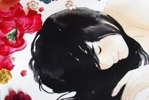 Stasia Burrington / An artist and illustrator, Stasia Burrington creates work that fills an emotional need, inspiring curiosity and reflection. Visually pleasing and accessible, sober and melancholic, showing that sadness is necessary and in concert with joy. It is the bittersweet. Reminding the viewer of their own imperfections, their own mortality… their own beauty.  Welcome to Bitter, Sweet and Slightly Dirty At Twilight Gallery July 1st - 31st 2013