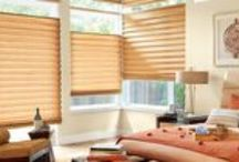 Roman Shades by Hunter Douglas / Vignette® Modern Roman Shades feature consistent folds and no exposed rear cords, keeping windows uncluttered. Choose from different fold styles and sizes, and a horizontal or vertical orientation.