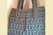 Bolsos - Monederos - Bags - Purses de Totora - Trapillo - Trapilho - Tshirt yarn - Fettuccia