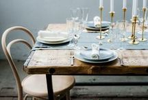 DINE WITH STYLE / Tablescapes, dinnerware, flatware, and chic kitchen tools. Have a fancy feast!  / by Level