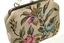 EMBROIDERED NEEDLEPOINT PURSES - INSPIRATION / These beautiful embroideries and purses form part of my inspiration as I develop and teach Embroidered Needlepoint Purses.   http://www.rowenalukeking.com/popup-courses#embroidered-needlepoint-purses