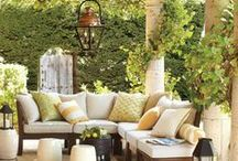 Outdoor Places and Spaces / There is nothing so special as a outdoor space to relax and renew after a long day. Creating a space that functions as well as serves as a spot to relax and enjoy the beautiful weather without too much maintenance is key.