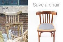 Save a Chair with Concrete / We just love to make everything a little better and we dislike waste.