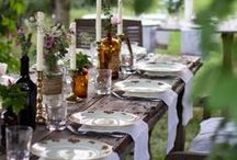 Tablescapes and Table Staging ~ Ooh, la la / A beautiful table, nice bottle of merlot, good food, family and friends...makes this girl one happy gal! / by Angie Payne