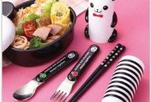 Baguettes et couverts / De jolis baguettes et couverts pour déguster vos Bento! Disponible sur le site www.shikaco.com