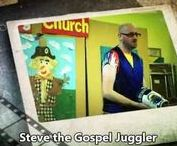 """Gospel Juggling Video Routines (Steve the Juggler) / Steve has over 400 Christian/Gospel Routines available, which means that whatever your Theme or Outreach Event, he can tailor his Performances to fit. Available to perform his One-Man Gospel Juggling Show for up to 75mins (eg """"An Evening with Steve the Juggler"""") or in much shorter slots to fit in with your event."""