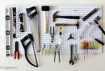 """The Garage / Many of our garages become a dumping ground and organization seems to fade. Make this extra """"room"""" in your home organized and useful while showing your personality!"""