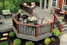 The Patio & Deck / Lounging around outside? Make it better with an outdoor space to take in all of the warm weather!