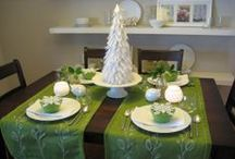 Christmas place settings/ napkin holders / by Madeline Dillard