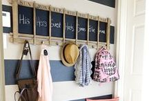The Landing & Mudroom / If you're blessed with a landing area near a front or back door, make the most of it!