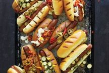 Hot Dogs / Honestly, you can top these bad boys with anything. Let's get rustic, creative, and down right crazy with hot dogs.