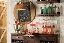 The Bar & Beverage Carts / The basement is the ultimate hang out zone, now throw a party into the mix. A home bar can easily create a party, but sometimes you don't have the space. Bar carts will do the trick!