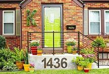 Curb Appeal / Welcome your guests with a pop of your personality!
