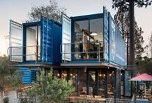 """Shipping Container Spaces / Do you have an inordinate amount of shipping containers? Are you trying figure out what to do with all them? In the unlikely event that the answer to this question is """"Yes,"""" you'll be pleased to learn that they're far more practical than you may have imagined. Check one of these out for your home, business or office space, and think inside the box!"""