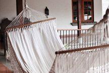 Hanging chairs, hammocks and swings
