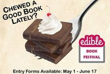 Edible Books / Cakes and other food creations all with book themes.