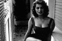 Sophia Loren / Sophia Loren (Italian pronunciation: born Sofia Villani Scicolone Italian pronunciation:20 September 1934) is an Italian film actress. She began her career at age 14 after entering a beauty pageant in 1949. Encouraged to enroll in acting lessons, Loren appeared in several bit parts and minor roles until the late 1950s when Loren's five-picture contract with Paramount launched her international career.  / by Alain Proulx