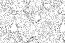Coloring isn't just for kids! / In this board, you will find advanced coloring pages. Print them off and color to your heart's content!