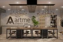 ARTme projects / Our company started work in 2013. During this time we have completed a number of different interior design projects of apartments and town houses, designed the architectural forms and participated in several international competitions.  Our team consists of professional architects and designers.   We love our job and work!