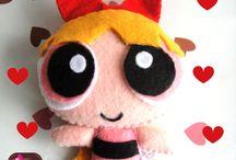 Arte boneca feltro dool