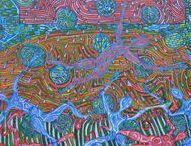 Joyful Creativity / Twórczość Radosna / Several painting from the series Works joyful. Kilka prac malarskich z  cyklu Twórczość Radosna.