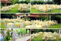 Wedding Venues Setup / Setup and catered by Town's Delight The Caterer. www.townsdelight.com . Looking for a Tagaytay wedding venue? Contact us: www.tagaytayweddingcafe.com