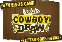 Cowboy Draw™ / Get ready to draw, Wyoming! The Wyoming Lottery Corporation is proud to bring you Wyoming's very own lottery game, Cowboy Draw™. Set to launch in the spring of 2015, Cowboy Draw gives players better odds and ensures that winning tickets will be sold from a WyoLotto retailer right here in the Cowboy State. / by Wyoming Lottery