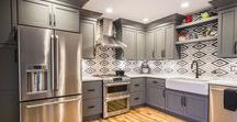 Farmhouse Industrial   Kitchen Remodel / Our recent work, an industrial kitchen remodel in Palatine, Illinois.