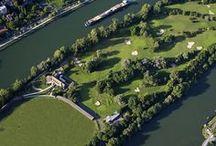 Le Practice / 150 postes éclairés 110 postes couverts #powertee Poste d'entraînement vidéo #Golf